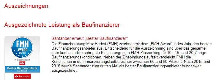 Beutreilungen - Santander Bank